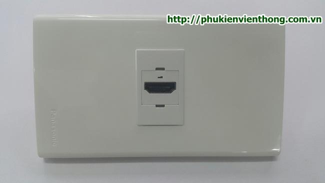 Nhân wall plate HDMI loại thẳng chuẩn wide đi âm tường, âm sàn