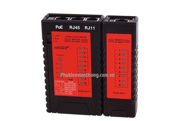 Máy test mạng RJ45, RJ11, POE Noyafa NF468PT